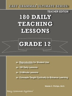 Easy Grammar Ultimate Series: 180 Daily Lessons Grade 11 SET - Workbook and Tests