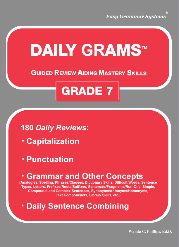 Daily Grams: Grade 7 Teacher Edition eBook