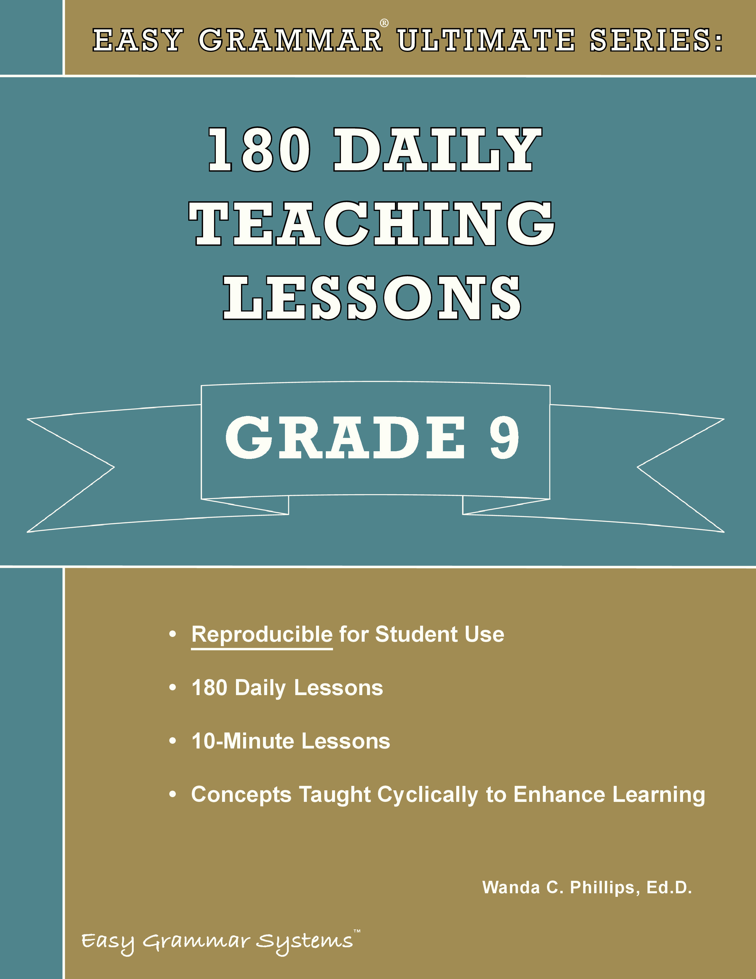 Easy Grammar Ultimate Series: 180 Daily Teaching Lessons Grade 9 Tests